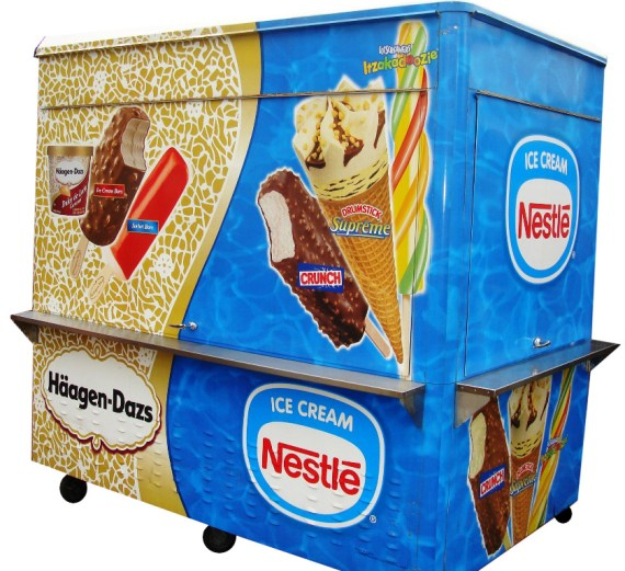 Custom made cart for frozen products