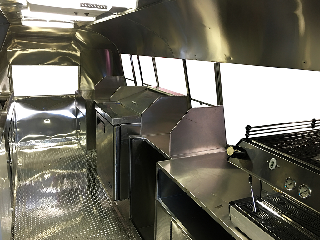 Coffee Airstream Step-in trailer by Kareem Carts Manufacturing