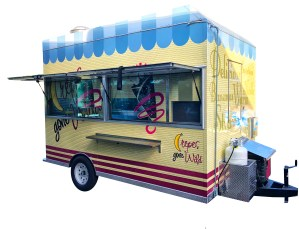 crepes step-in food trailer