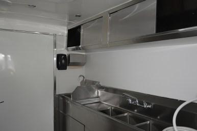 Sinks inside a food truck