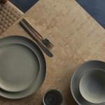 Pasta Teller Aus Steingut Handgemacht In Weiss Grun Und Grau