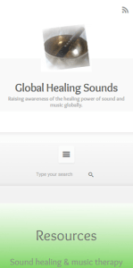 Global Healing Sounds Mobile Screenshot
