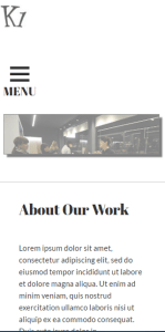 K1 WordPress Theme Mobile Screenshot