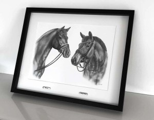 Collagenzeichnung Pferdeportraits