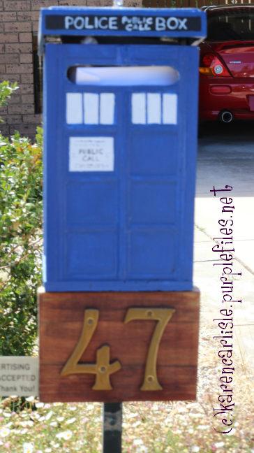 tardis letterbox march 2015 copyright Karen Carlisle 2015