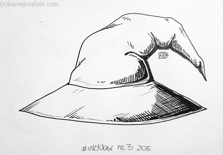 day 3 Gandalfs hat_copyright2015KarenCarlisleCM