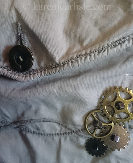 7 sewing on cogs and replacing buttons