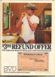 BVD cowboy vintage 1980s ad