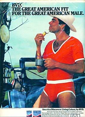 BVD cowboy vintage 1980s ad5
