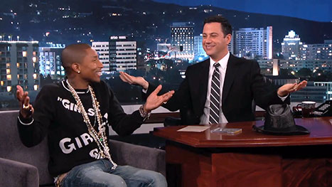Pharrell Jimmy Kimmel