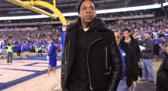 Jay Z at Giants Game
