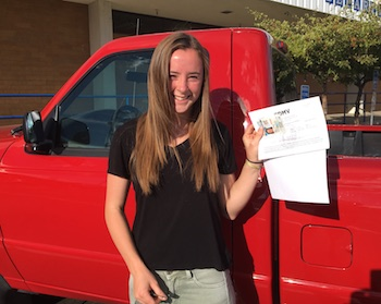 Kaily Conrad Gets Her Driver's Licence in Reno