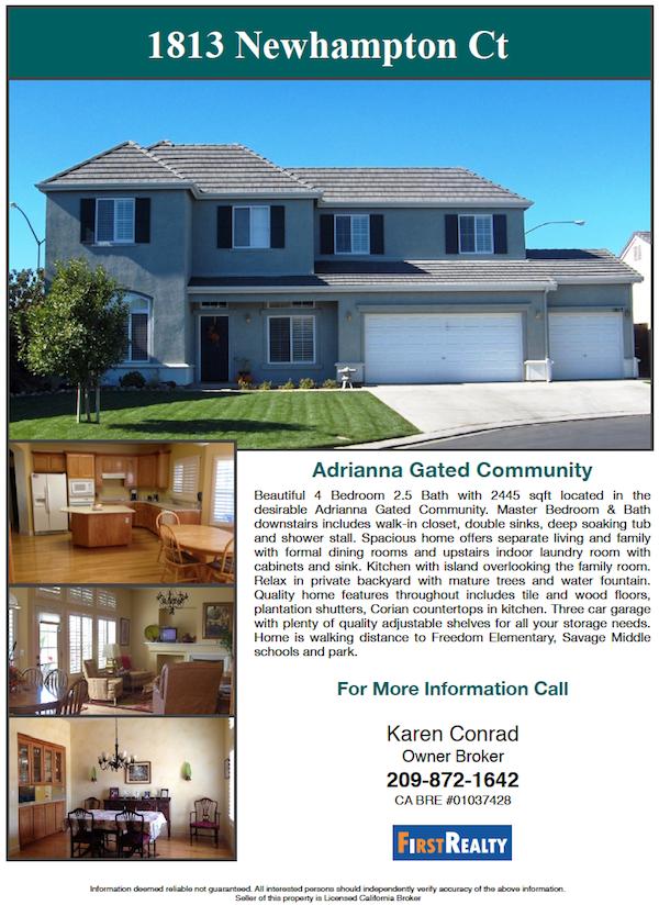 Modesto Home For Sale Karen Conrad