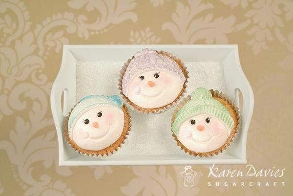 Cupcake Top - Snowman Bobble
