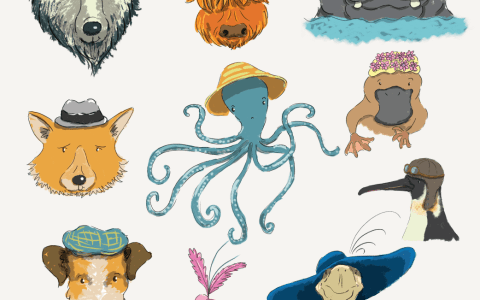 More and more animals in hats!