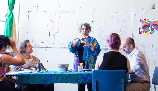 Photo: Karen Erlichman in studio