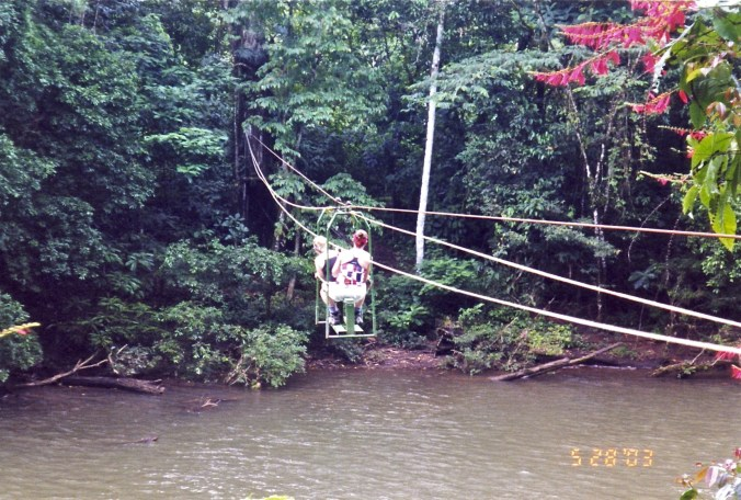 Costa Rica Crossing The River with Pulleys
