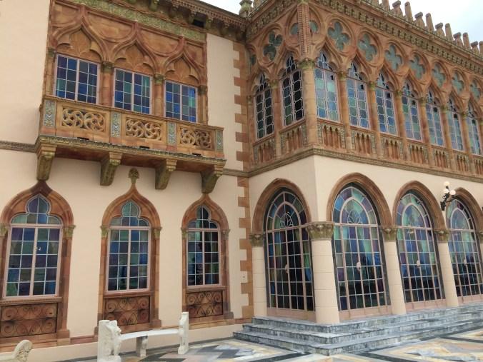 Beautiful windows at ringling mansion