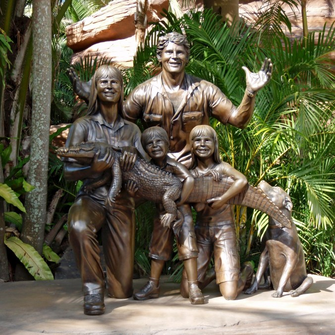 Steve Irwin's Family Bronzed