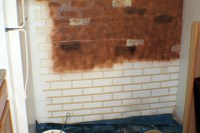 How to Make a Cement Block Basement Wall Look Like Brick ...