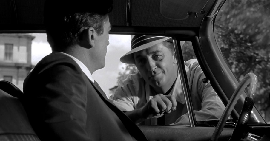 Robert Mitchum and Gregory Peck in cape Fear, 1962