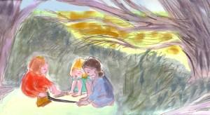 Pea & Pod, Illustrations, Pastel and Acrylic 2009