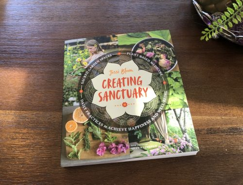 Creating Sanctuary Book, A Book on How to Create a Sacred Garden Space, Daily Stress ReLeaf, Karen Hugg, https://karenhugg.com/2021/03/03/sacred-garden-space/, #creatingsanctuary #plants #books #destressing #relaxation #gardening #jessibloom #garden #sacred