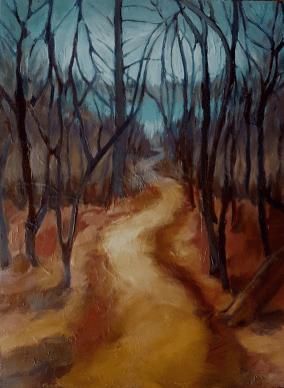 Pathway through Trees, Karen Huss