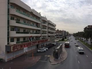 Apartments & shops.