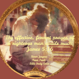 Front Porch Bible Study Series Woman in Prayer by Karen Jurgens