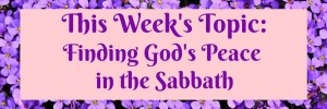Front Porch Bible Study Series Topic: Finding God's Peace in the Sabbath by Karen Jurgens