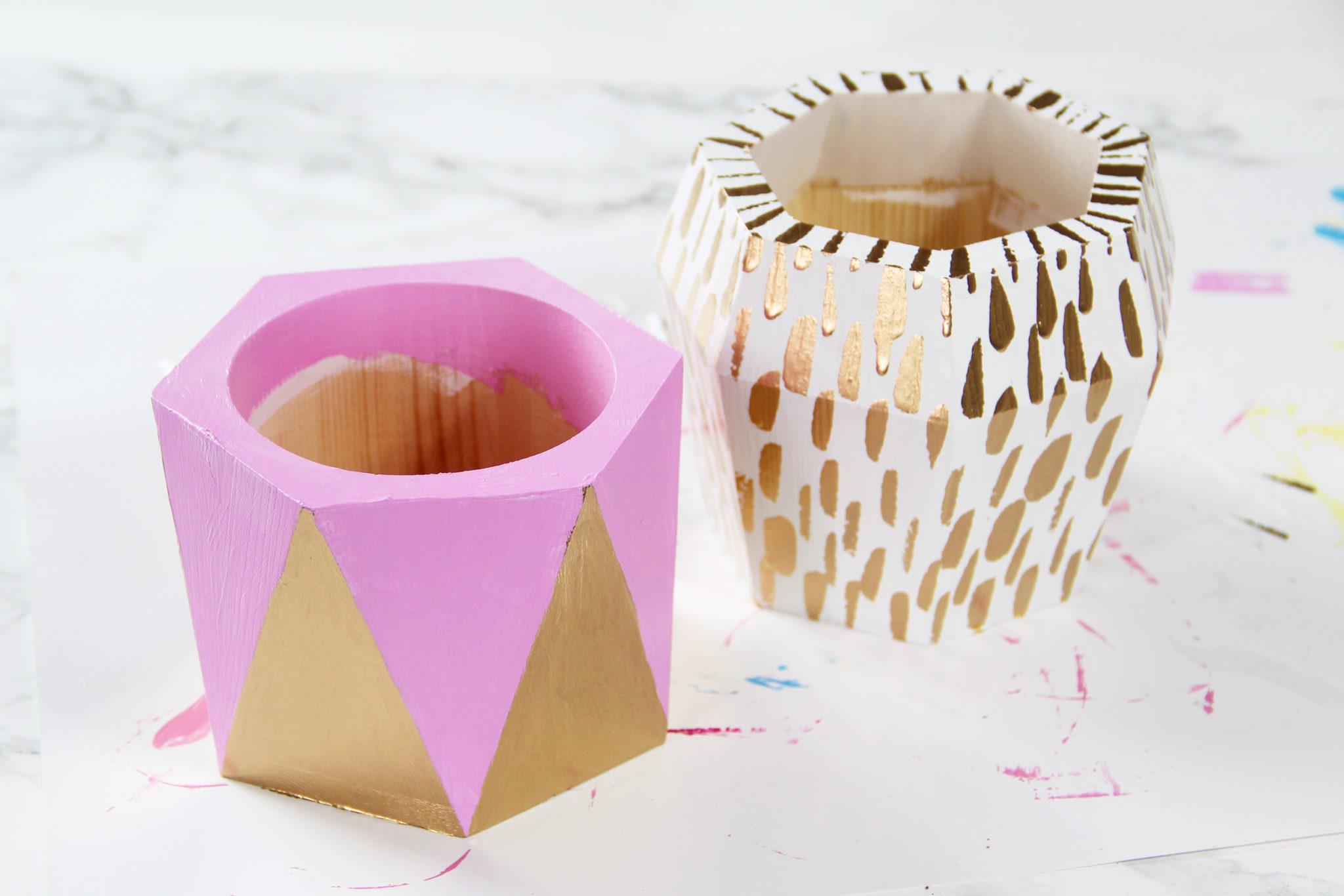 Diy Paper Cacti Geometric Planters Karen Kavett