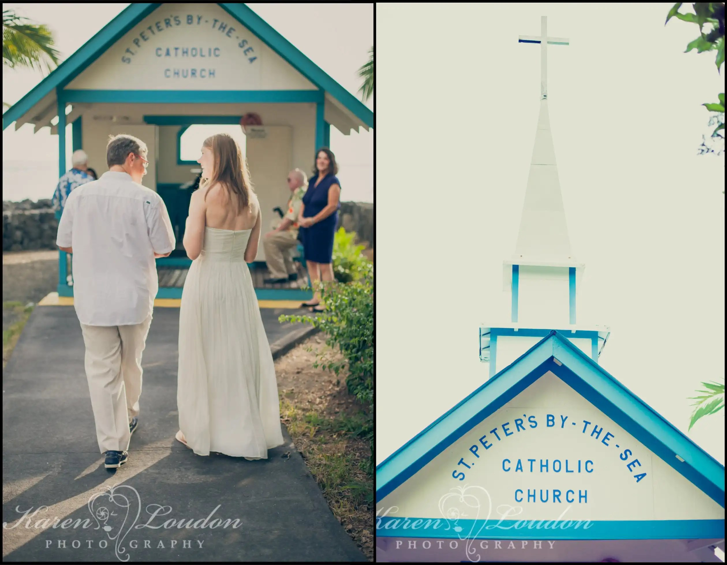Sara And Jeff Little Blue Church Big Island Of Hawaii Karen Loudon Photography