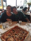 Like sisters Kris and Karen and the pizza