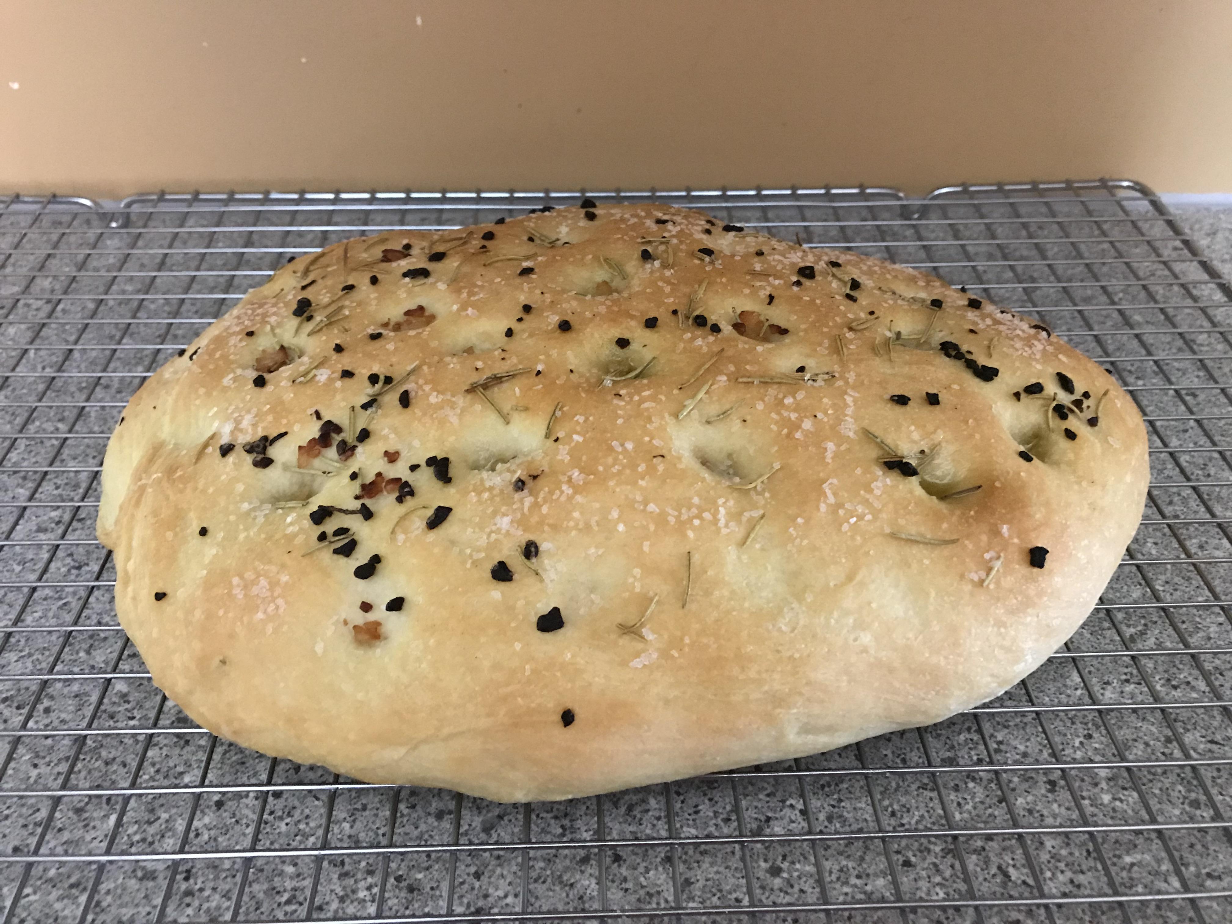 loaf of focaccia bread