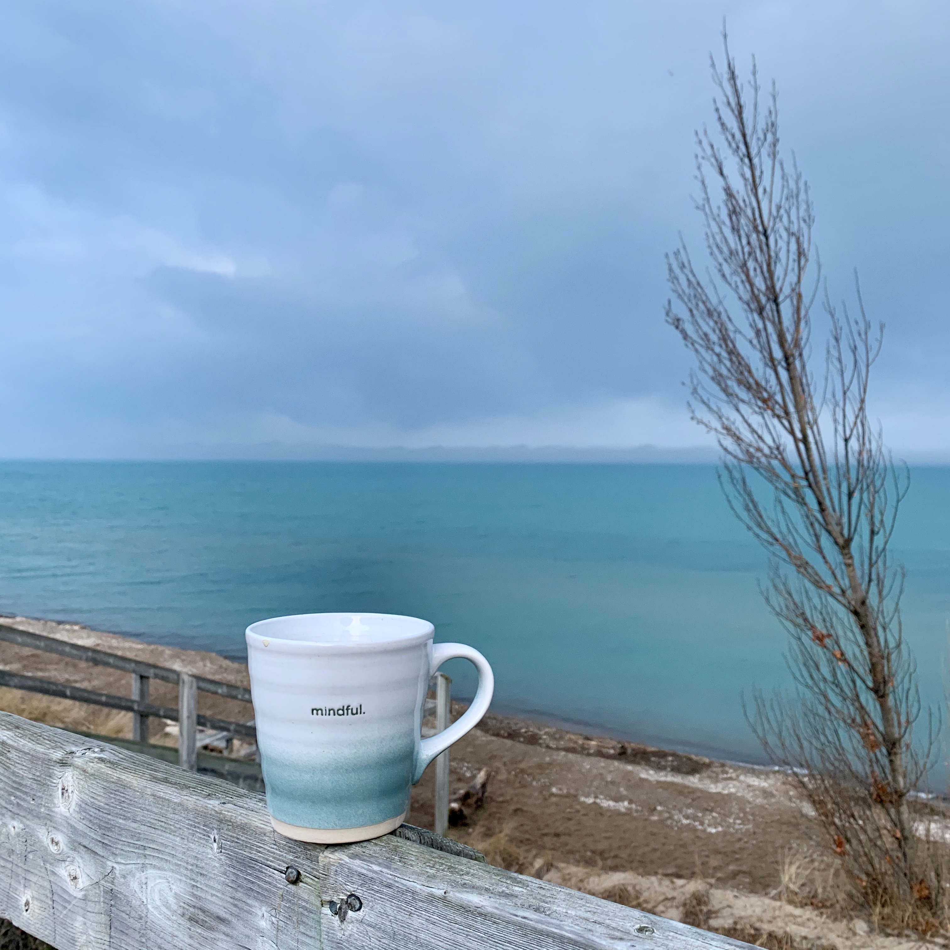 mug with colours of water and sky