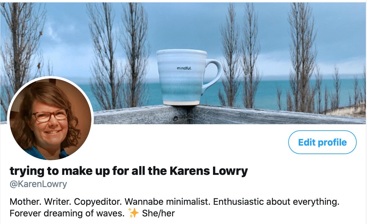 screenshot of my twitter profile
