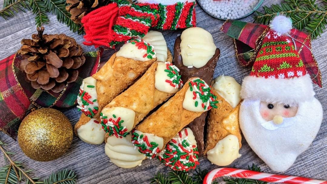 Christmas cannoli