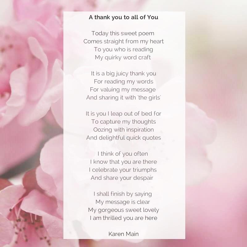 Thank you poem