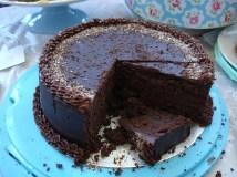 Louises Chocolate truffle inside