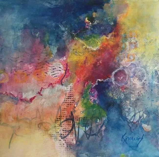 Color Dance Mixed media by Karen Phillips