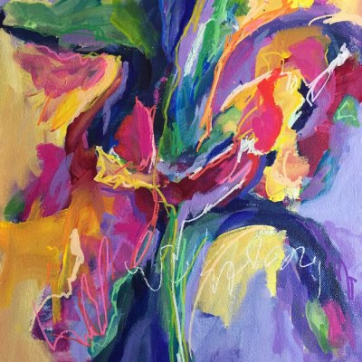 "Rediscovering Joy 14""x11"" Acrylic on canvas © Karen Phillips"