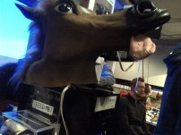 The nodding horse. Because you know, it's essential to any hack lab.