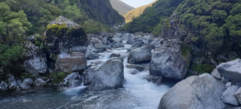 Day 105 to Day 111. 118km from Lewis Pass to Arthur's Pass.  Deception River and Goats Pass
