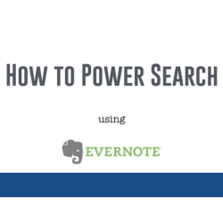 How to power search using Evernote