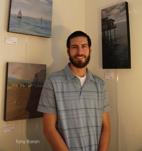 Tony Baran Painting at Open Studios