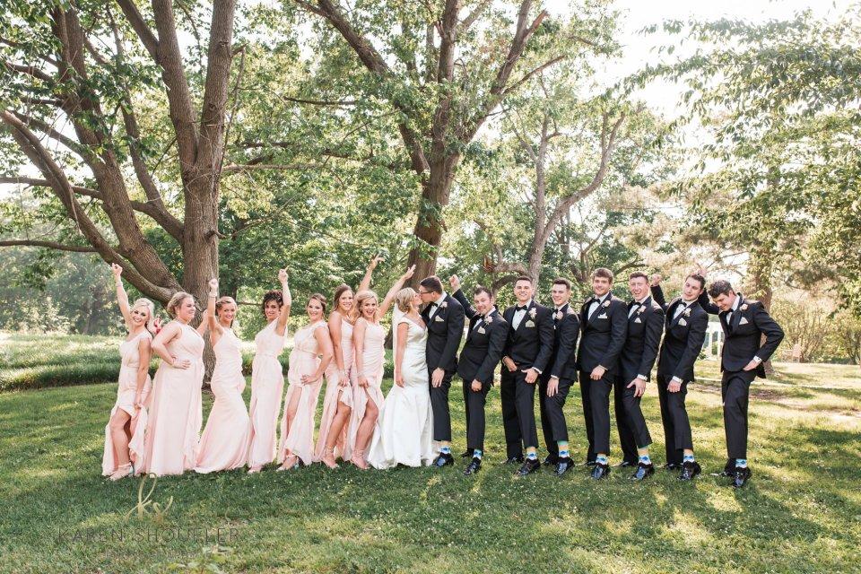 Bridal Party at Washington Park Springfield by Karen Shoufler Photography