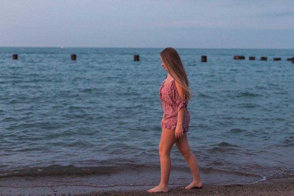 Chicago Lake Michigan Oak Street Beach Photos