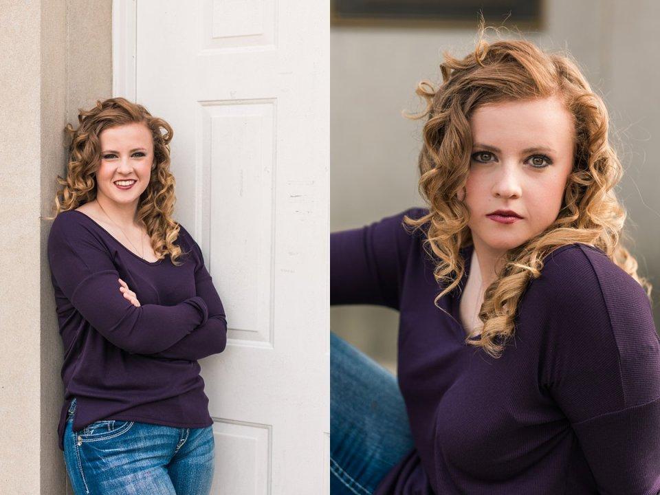 Redhead Girl Senior Poses Photography