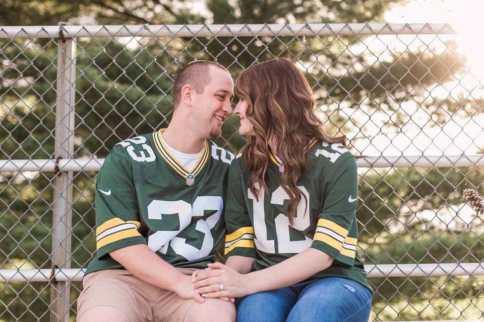 Green bay football engagement session